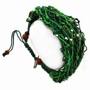 Thai Knotted Bead Bracelet - Green