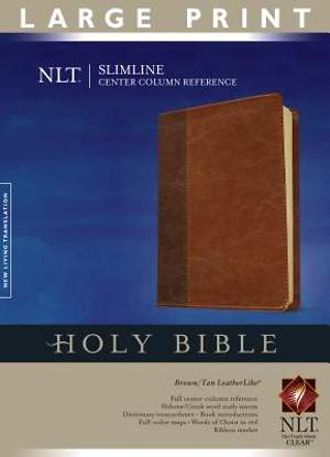 Bible NLT Slimline Center Column Reference LP