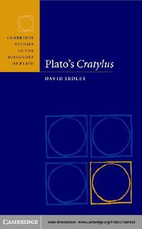 Plato's Cratylus [Adobe Ebook]