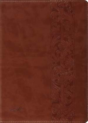 The MacArthur Study Bible (Trutone, Natural Brown, Woodcut Design)