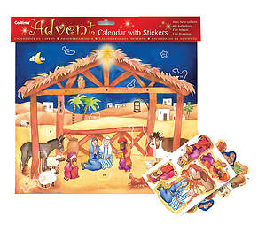 Nativity Scene with Stickers Advent Calendar