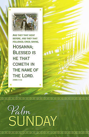 Palm Sunday Bulletin - Hosanna - Mark 11:9 KJV (Pkg 100)