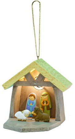 3D Christmas Nativity Ornament