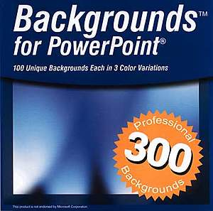 Backgrounds™ for PowerPoint® CDROM
