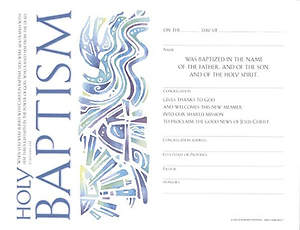 Community Adult Baptism Certificate (Package of 12)