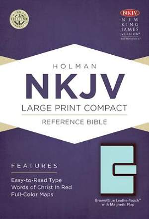 Large Print Compact Reference Bible-NKJV-Magnetic Flap