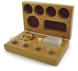 Communion Set Cherry Wood