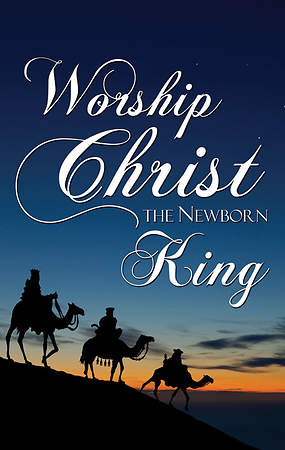 Nativity Series Worship the King Banner 3' x 5'