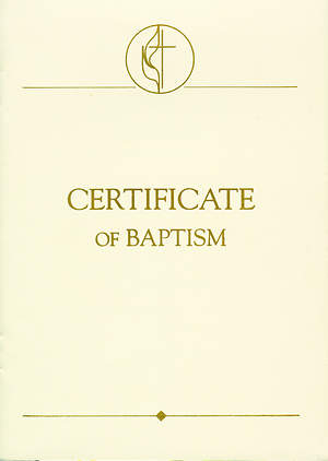 United Methodist Covenant II Child Baptism Certificate (Package of 3)