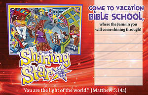 Vacation Bible School (VBS) 2015 Shining Star Outdoor Banner