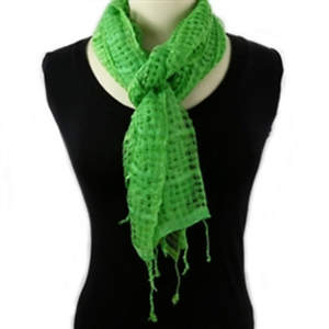 Java Super Soft Cotton Scarf - Lime