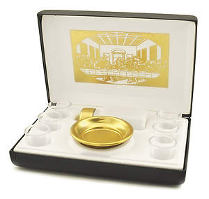 Last Supper 6-Cup Portable Communion Set