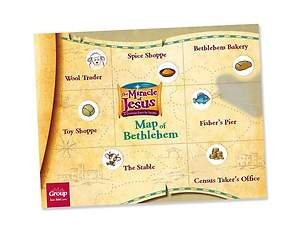 The Miracle of Jesus Map of Bethlehem and Sniffer Stickers Set (Pack of 50)