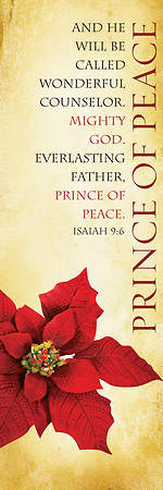 Christmas Parchment Series Prince of Peace Banner 2'x6'