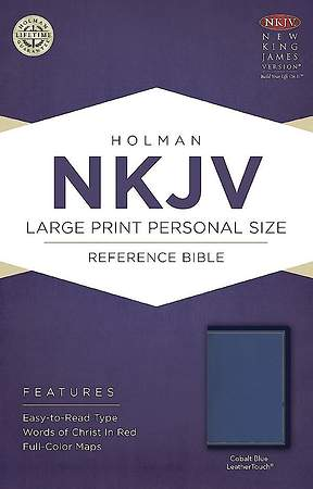 NKJV Large Print Personal Size Reference Bible, Cobalt Blue Leathertouch