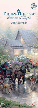 Thomas Kinkade Painter of Light Slimline Calendar 2014