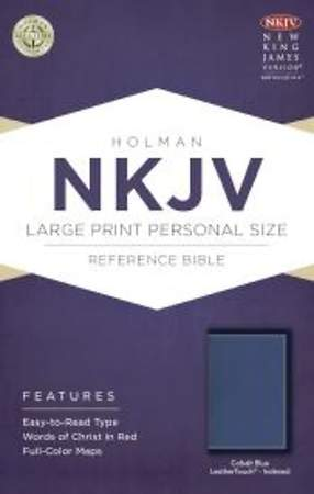 NKJV Large Print Personal Size Reference Bible, Cobalt Blue Leathertouch, Indexed