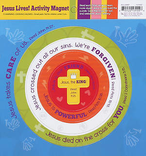 Jesus Lives! Let`s Celebrate Activity Magnet