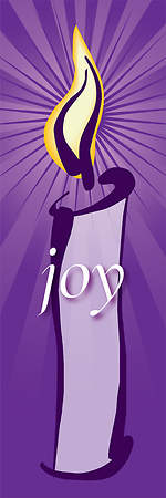 Contemporary Advent Series Joy Banner 2'X6'