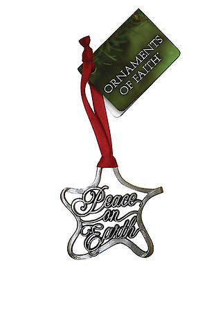 Peace on Earth Pewter Ornament