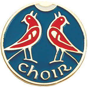 Two Red Birds Choir Pin