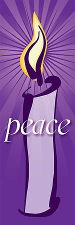 Contemporary Advent Series Peace Banner 2'X6'
