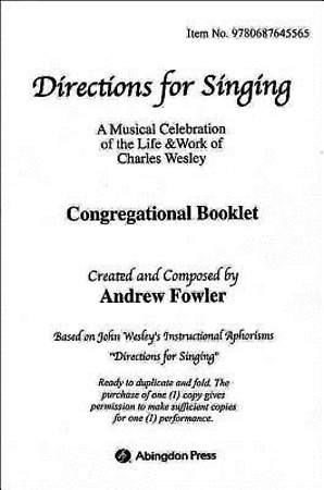 Directions for Singing Congregational Booklet