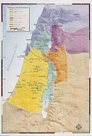 Abingdon Bible Land Map--Palestine in the Time of Jesus