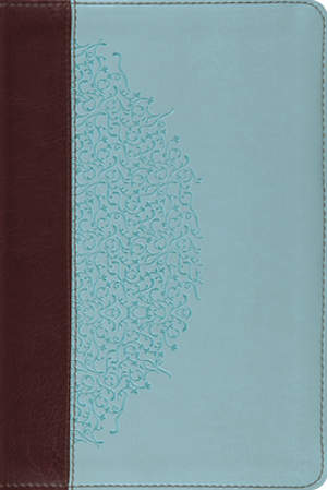 ESV Study Bible, Personal Size (Trutone, Chocolate/Blue, Ivy Design)