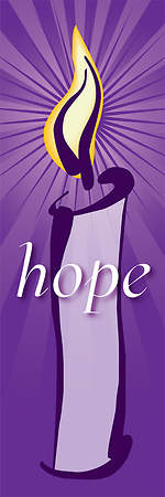 Contemporary Advent Series Hope Banner 2'X6'