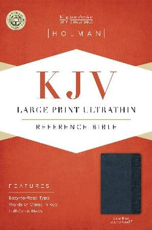 KJV Large Print Ultrathin Reference Bible, Slate Blue Leathertouch