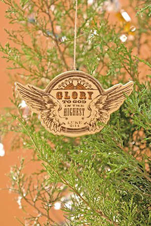 Angel Wings Glory to God Ornament
