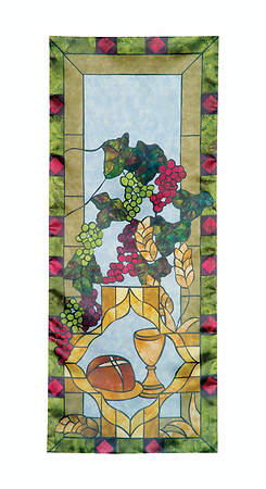 Stained Glass Communion Parament Set Pulpit Scarf
