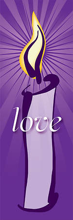 Contemporary Advent Series Love Banner 2'X6'