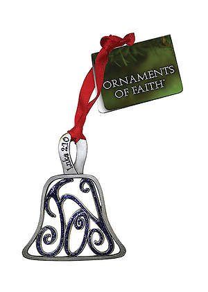 Joy Handbell Pewter Ornament
