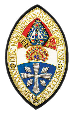 Hand Embroidered Diocesan Seal - Diocese of Newark
