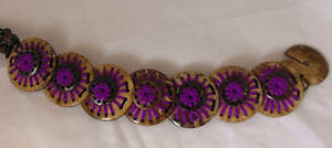 Thai Triple Coconut Bracelet - Purple