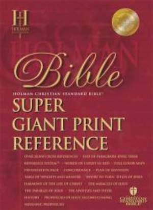 Super Giant Print Reference Bible - HCSB
