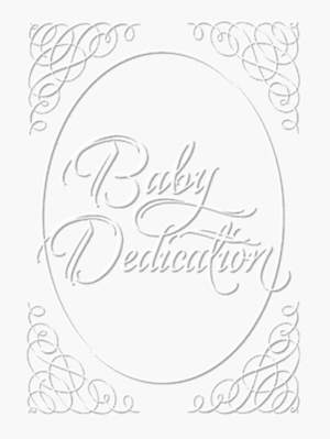 Baby Dedication Certificate Silver Foil Embossed Package of 6