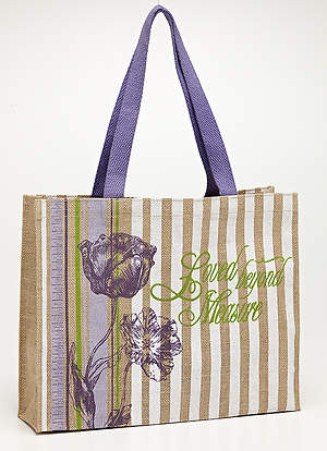 Loved Beyond Measure: Jute Tote Bag