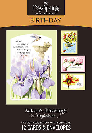 Nature`s Blessings - Birthday Boxed Cards - Box of 12