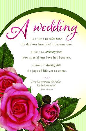 Wedding Bulletin - A Wedding - 1 John 3:1 (Pkg 100)