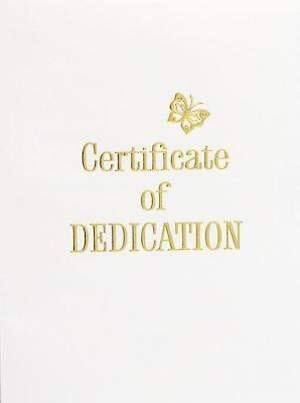 Contemporary Steel-Engraved Baby Dedication Certificate (Package of 3)