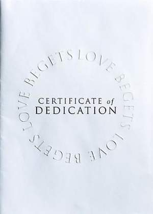 Abingdon Select Collection Baby Dedication Certificate