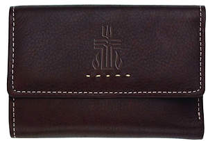 Fossil Genuine Leather Women's Multifunction Wallet with PCUSA Logo