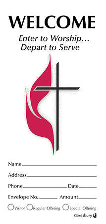 Welcome United Methodist Church Offering Envelope Bulk Currency (Package of 500)