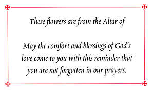 6802 ALTAR FLOWER CARD [PACK OF 100]