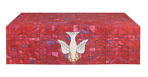 Symbols of Faith Series Stained Glass Descending Dove Altar Frontal