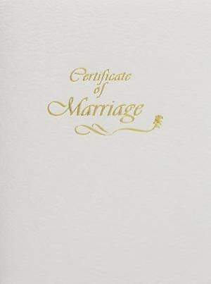 Contemporary Steel-Engraved Marriage Certificate (Package of 3)