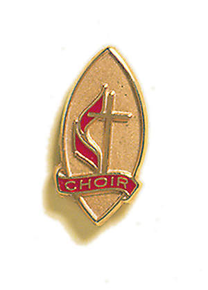 United Methodist Emblem Choir Pin